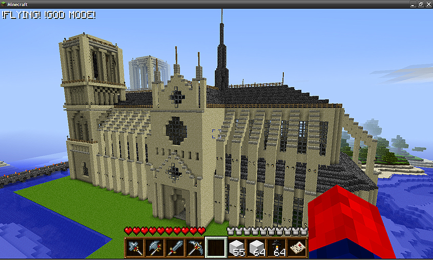 Notre Dame Cathedral Minecraft Project