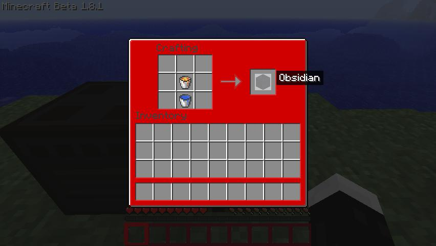 Craft obsidian minecraft mod for How do you craft in minecraft
