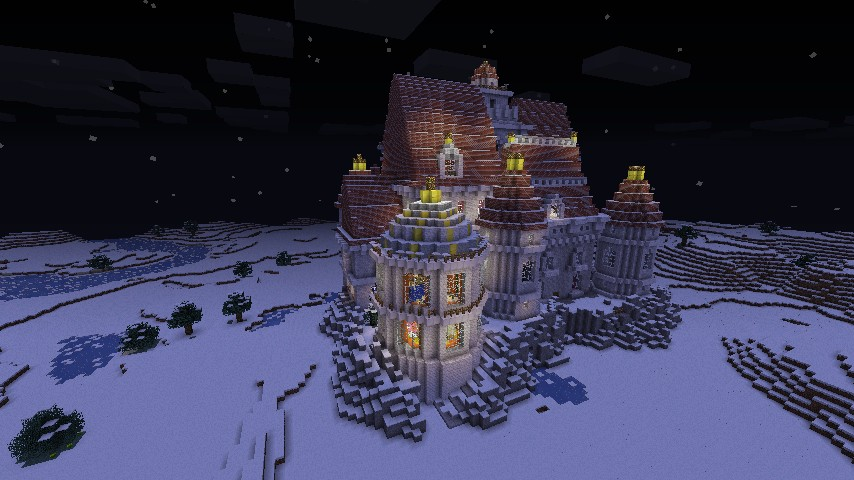 and the beast castle minecraft project
