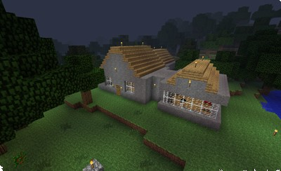 Our first simple home on the server.