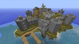 Medium  Sized Medieval Town Island Minecraft Project
