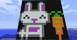 Cute bunny with carrot Minecraft Map & Project