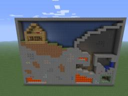 2D Minecraft Wall Minecraft Map & Project