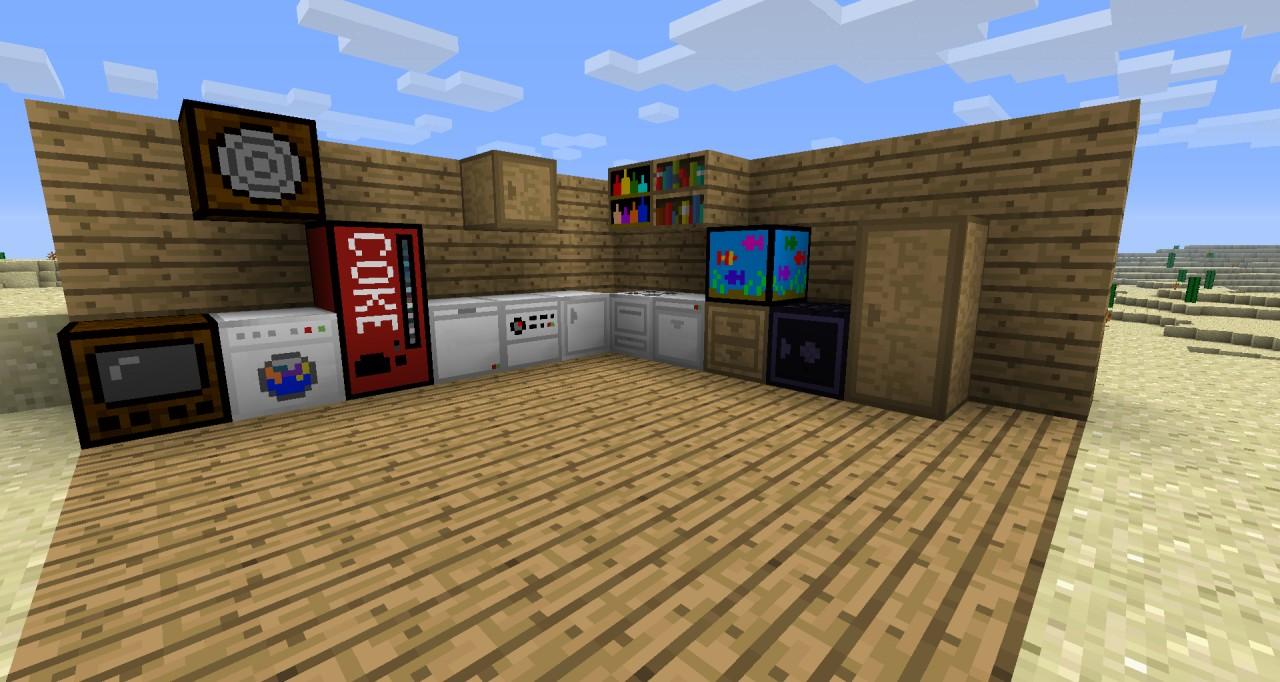 Minecraft Kitchen Brainaders Appliances Mod Minecraft Mod