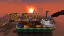 Container Ship and Docks Minecraft Project