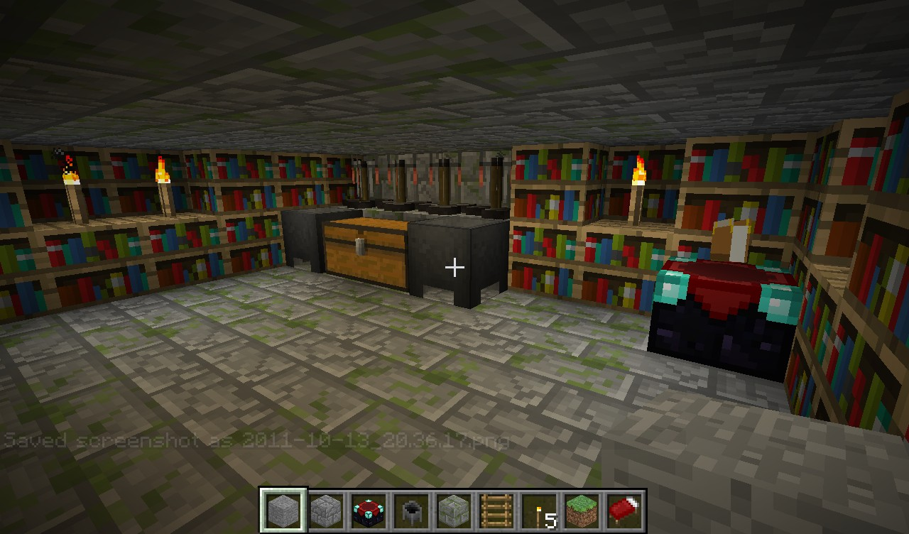 Floating Island With Hidden Potion Room Minecraft Project