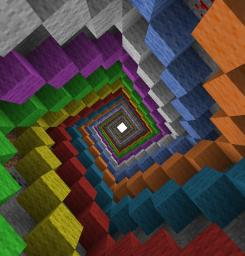 Huge Color Spiral Minecraft Map & Project