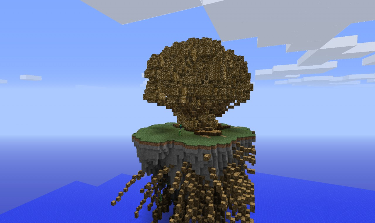 Floating Island Survival V1 on Minecraft Cobblestone House Designs