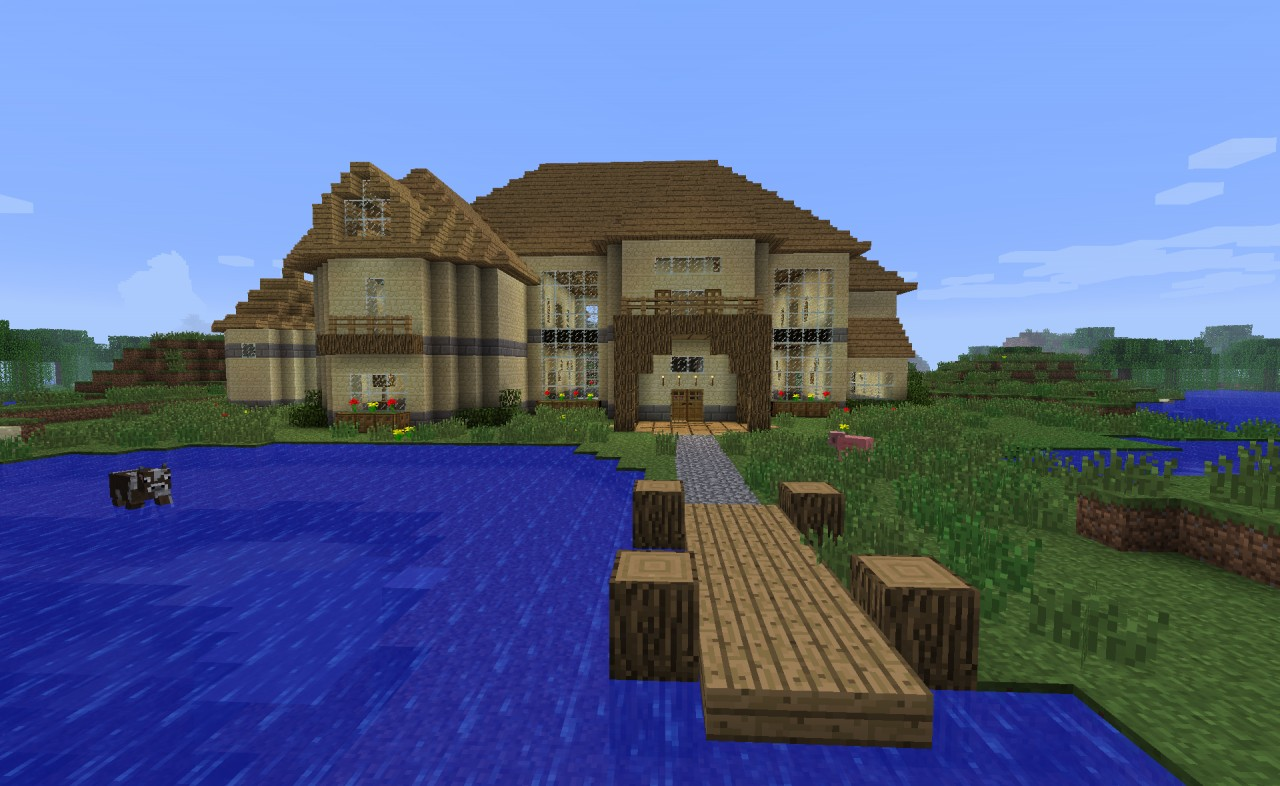 Amazing photo of SevenStep House Minecraft Project with #0147CA color and 1280x786 pixels