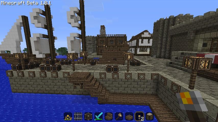 Medieval City W Port Minecraft Map