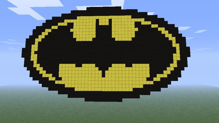 Batman Logo Minecraft Project