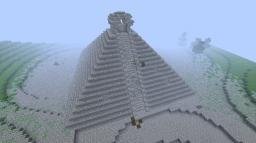 Awsome mountain surrounded by dense forrest and other relics Minecraft Project
