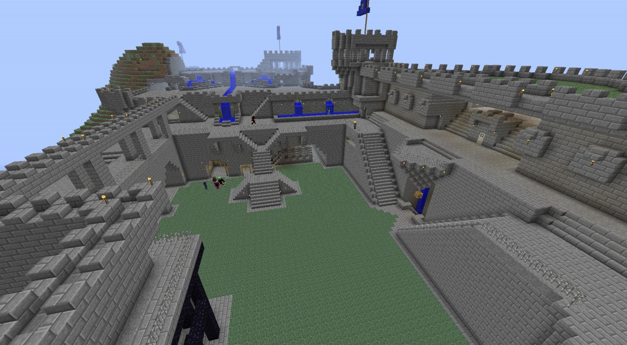 Digital warzone medieval castle and hidden maze minecraft project