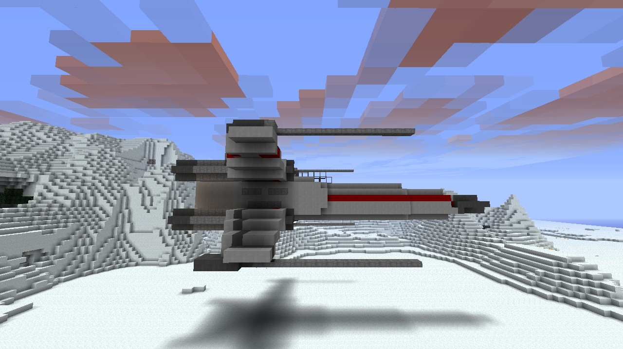 How To Build A Personal X-Wing In Minecraft - YouTube