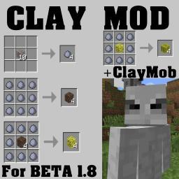 ClayMod+ClayMonster Minecraft Mod