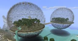 Biodomes (with secret hideout) Minecraft Map & Project