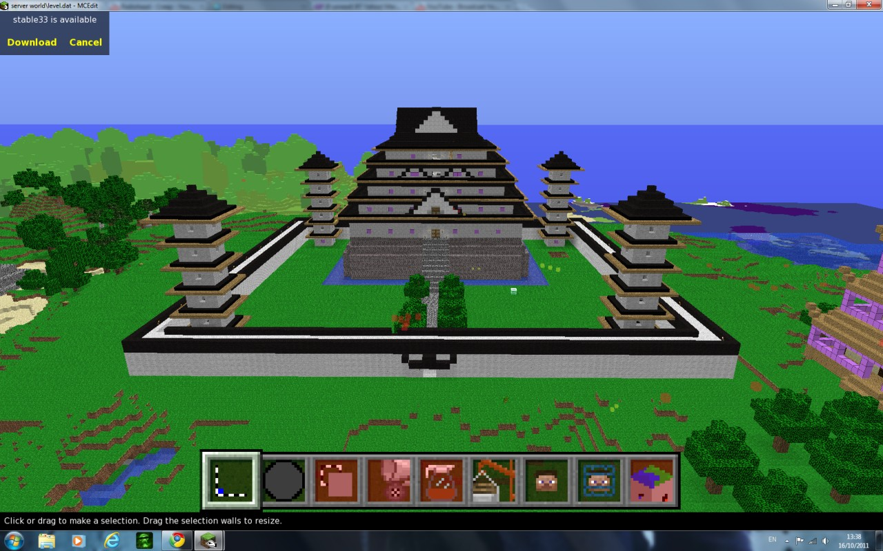 japanese castle pagoda large minecraft project