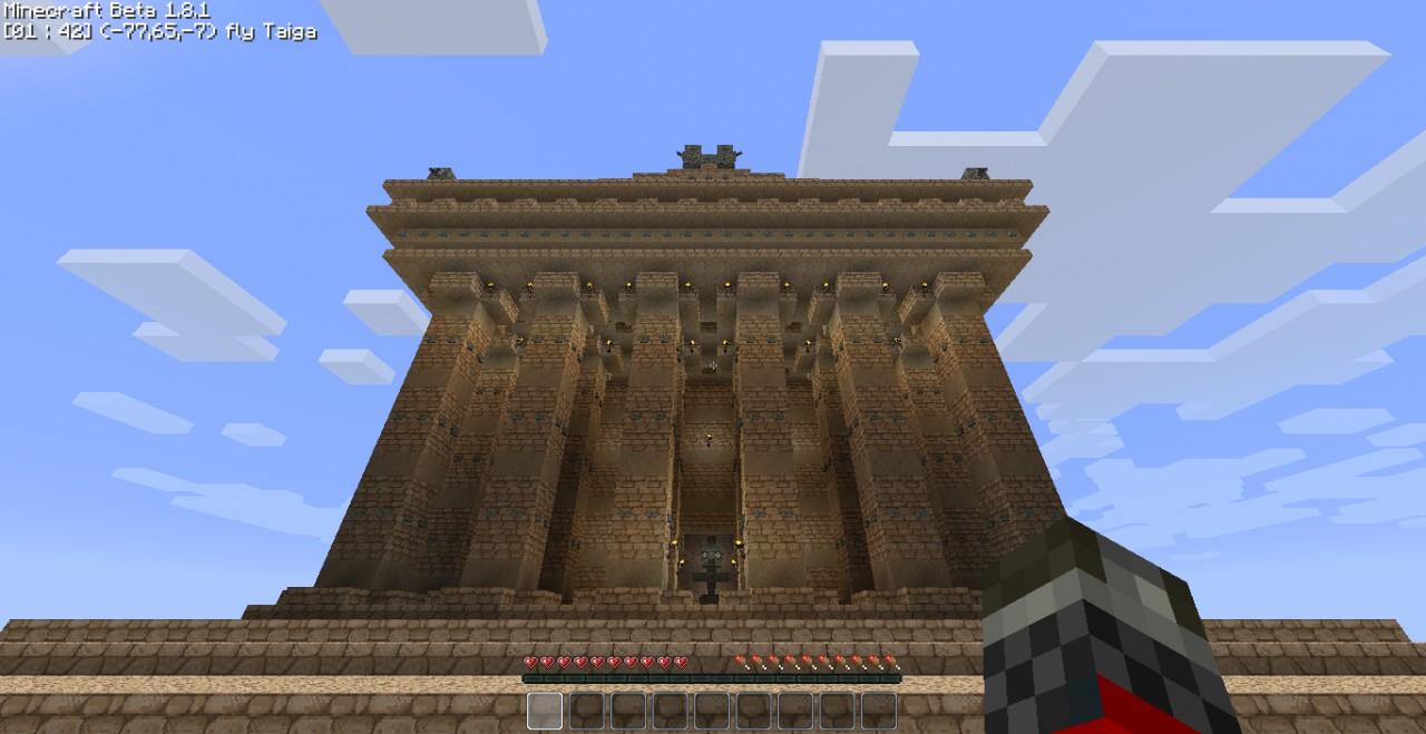 Greek Map Minecraft Greek Temple Minecraft Project