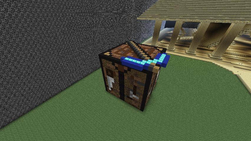 Crafting table villa minecraft project for Minecraft coffee table