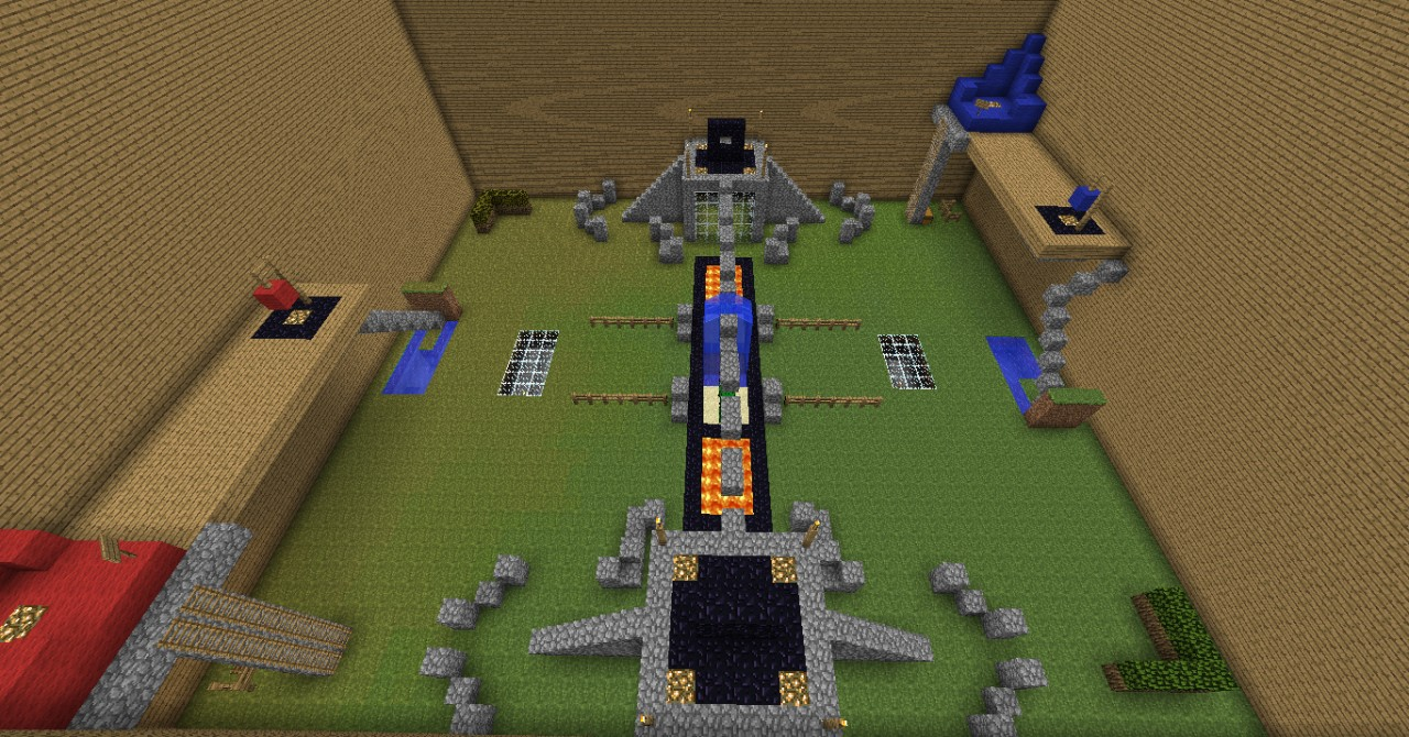 "One of our ""War Zones"" (Arenas) for the ""War: TDM/CTF"" plugin by tommytony."