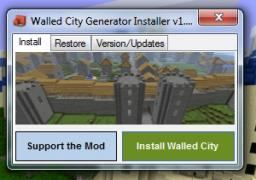 Walled City Generator Installer Minecraft Mod