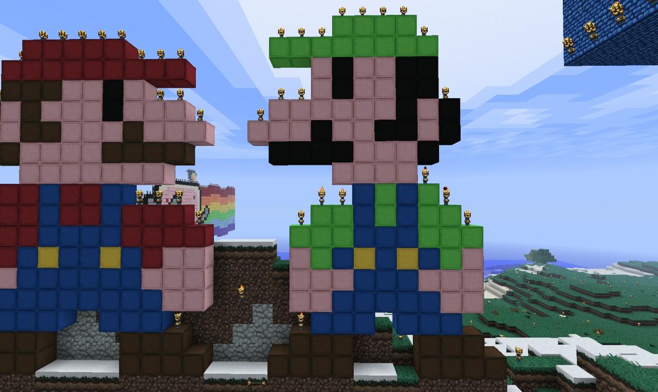 Mario Pack Pixel Art Minecraft Project