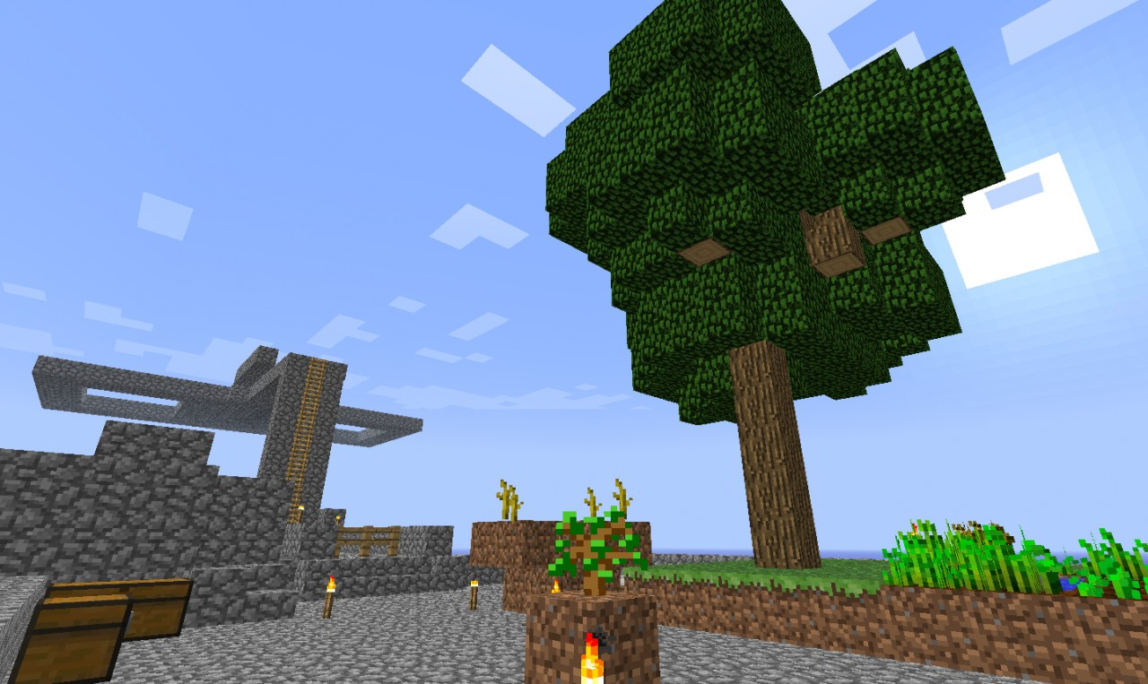 My tree grew up so big! And in the background is my first platform