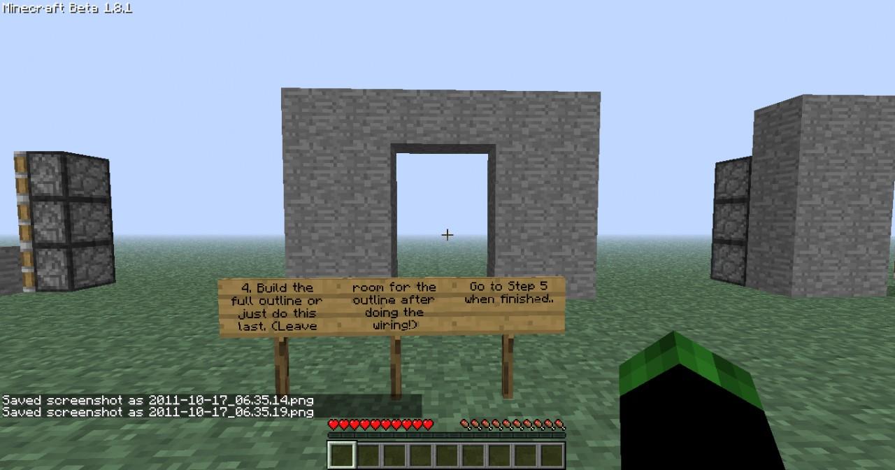 Piston Door Tutorial (With Pictures) Minecraft Project
