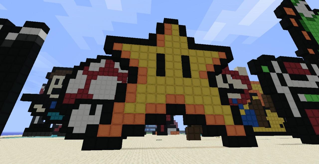 Archaiz S And General Dodger S Pixel Art World Minecraft Map
