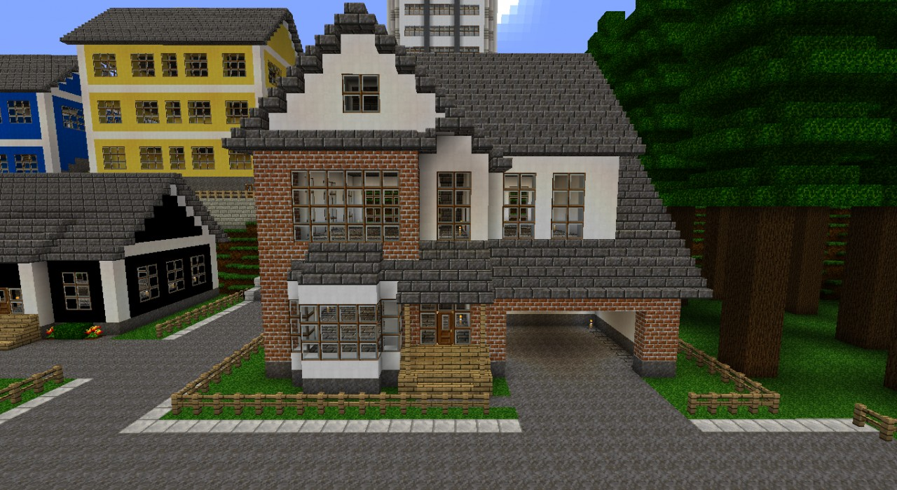 White brick house minecraft project for Houses projects
