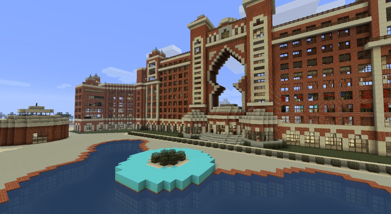 Atlantis resort hotel dubai minecraft project for Hotel de dubai