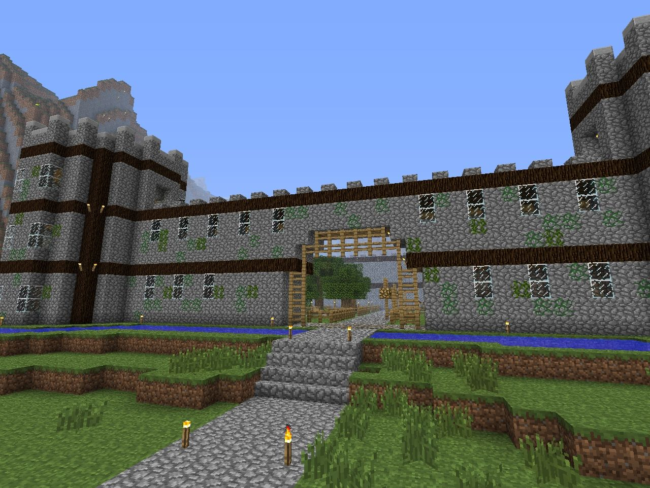 Added Vines And Mossy Cobblestone