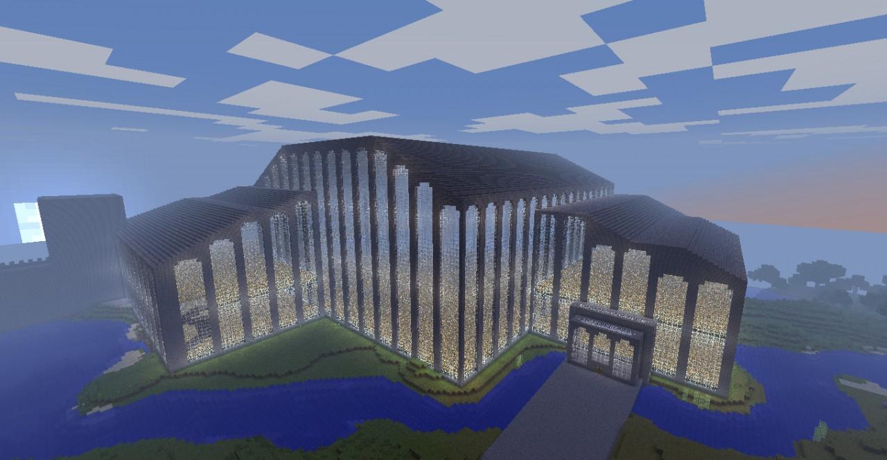 Glass Mansion 80 Npc Village Minecraft Project