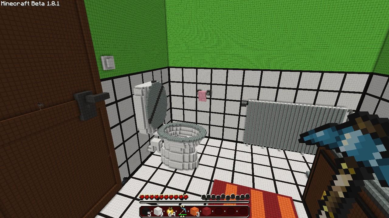 Bathroom on minecraft