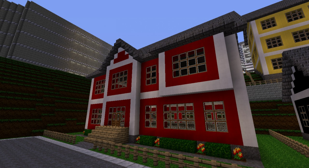 Red Wool House Minecraft Project