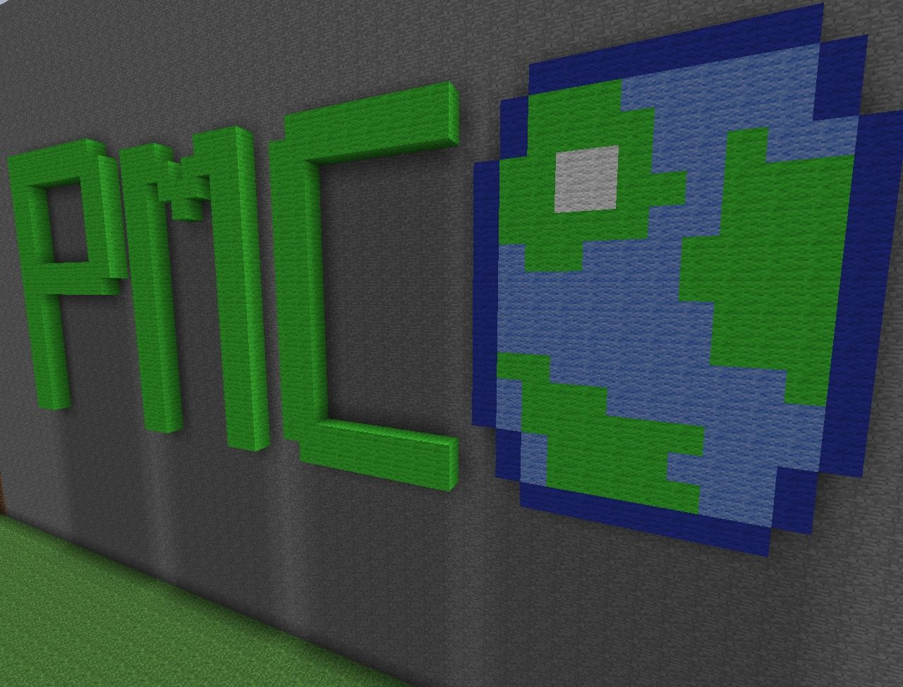 Wall Decorations Minecraft : Pmc logo wall art minecraft project