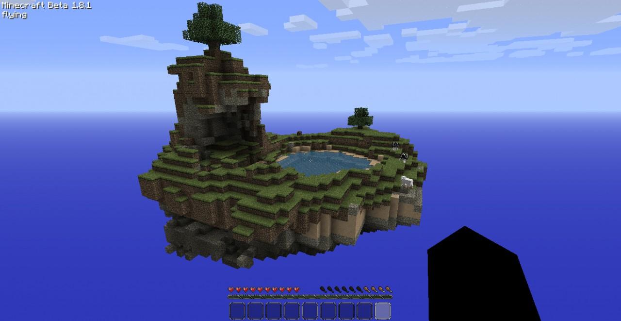 Floating Island Minecraft Seed   Bedrock