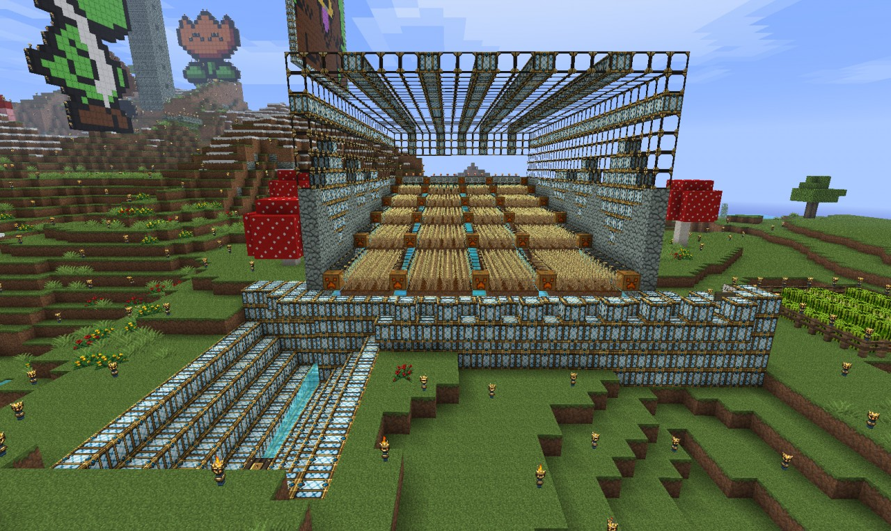 how to create a farm in minecraft pe