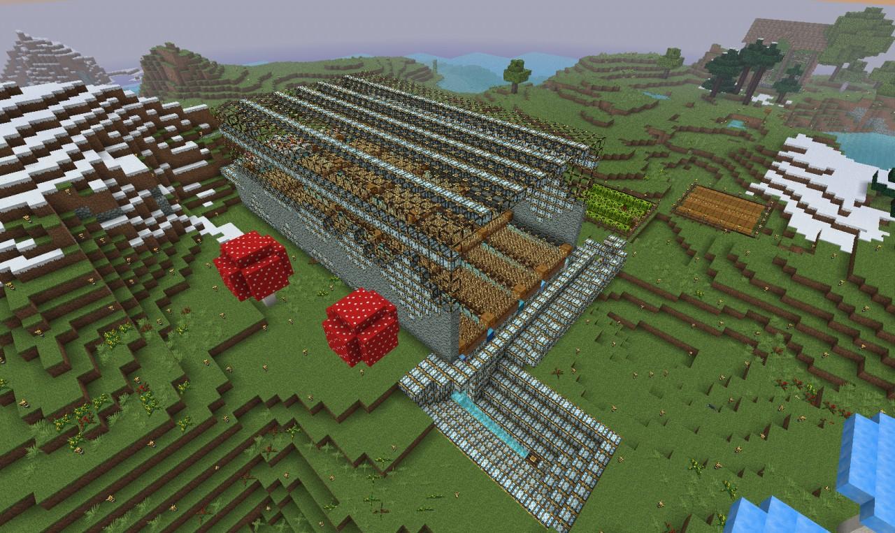 Automatic Big Wheat Farm Minecraft Project
