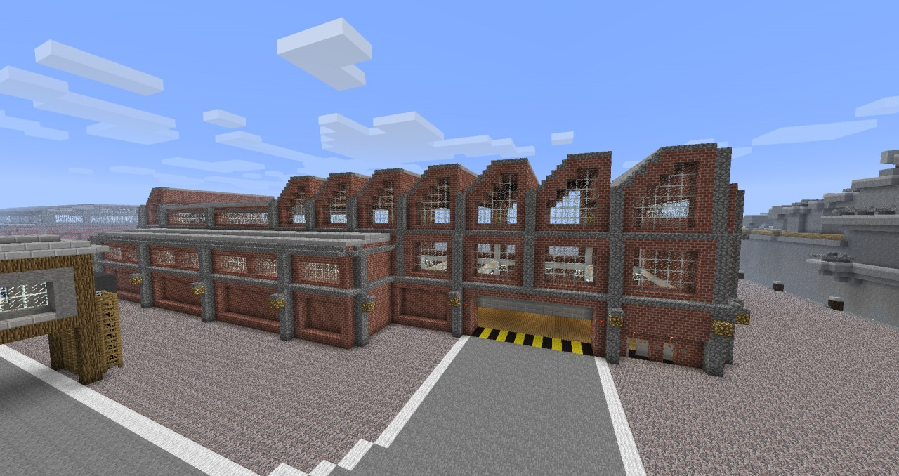 Warehouse Factory Hall Minecraft Project
