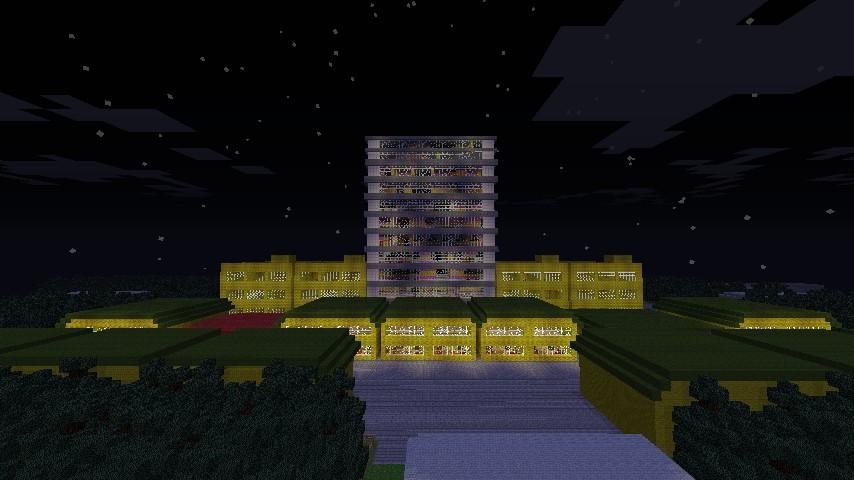 The Saffron city skyline at night.