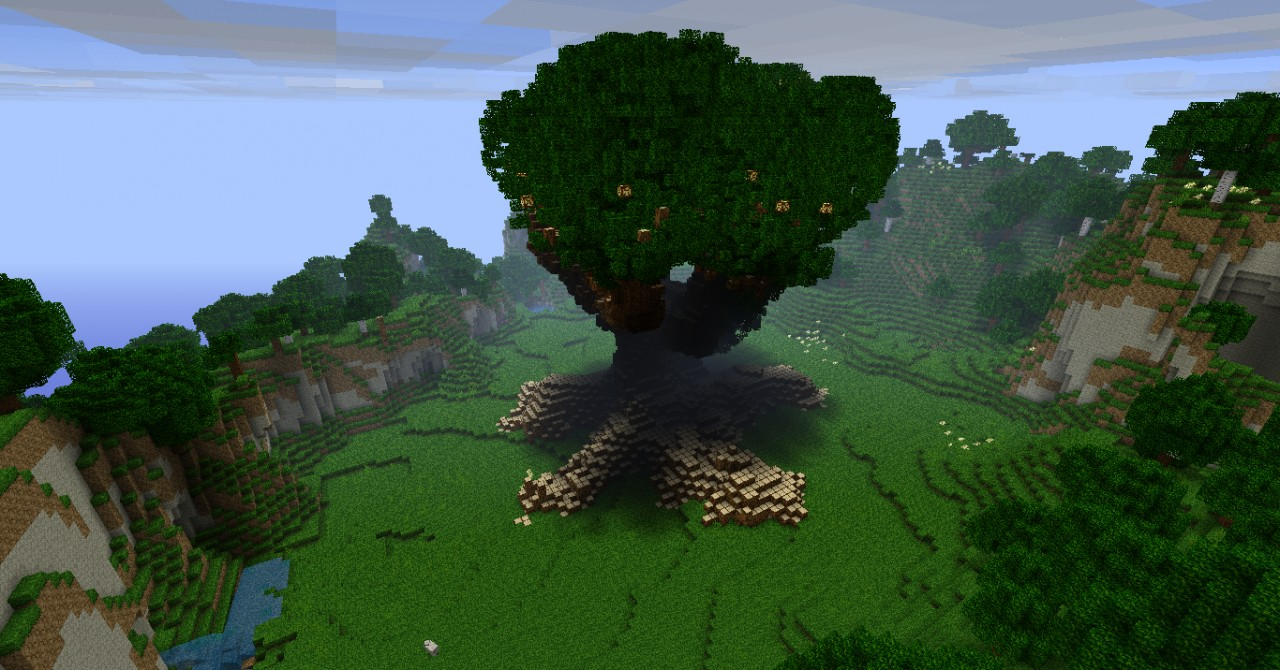 Minecraft Giant Mod Giant Tree in Minecraft