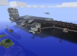 USS Enterprise - Navy ships: Carrier, destroyer, submarine - Desticraft Minecraft Map & Project