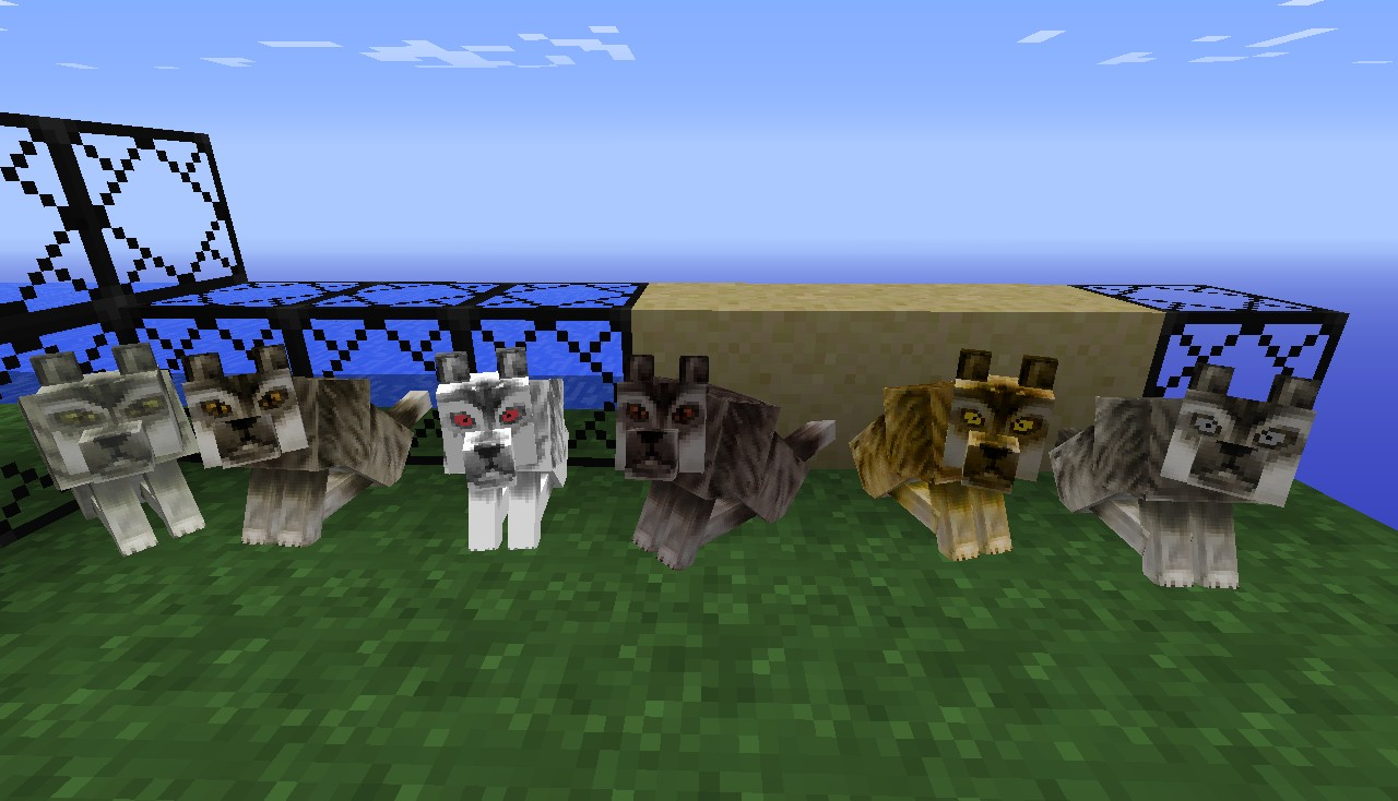 Stark Direwolves (left to right) Lady, Nymeria, Ghost, Shaggy Dog, Summer, Grey Wind