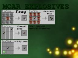 [1.8.1] Moar Explosives: Make things go boom! Minecraft Mod