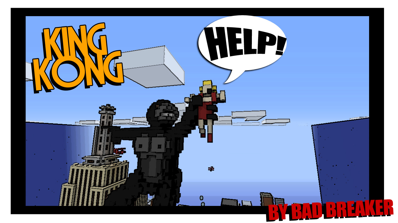 Cartoon Of King Kong On The Empire State Building