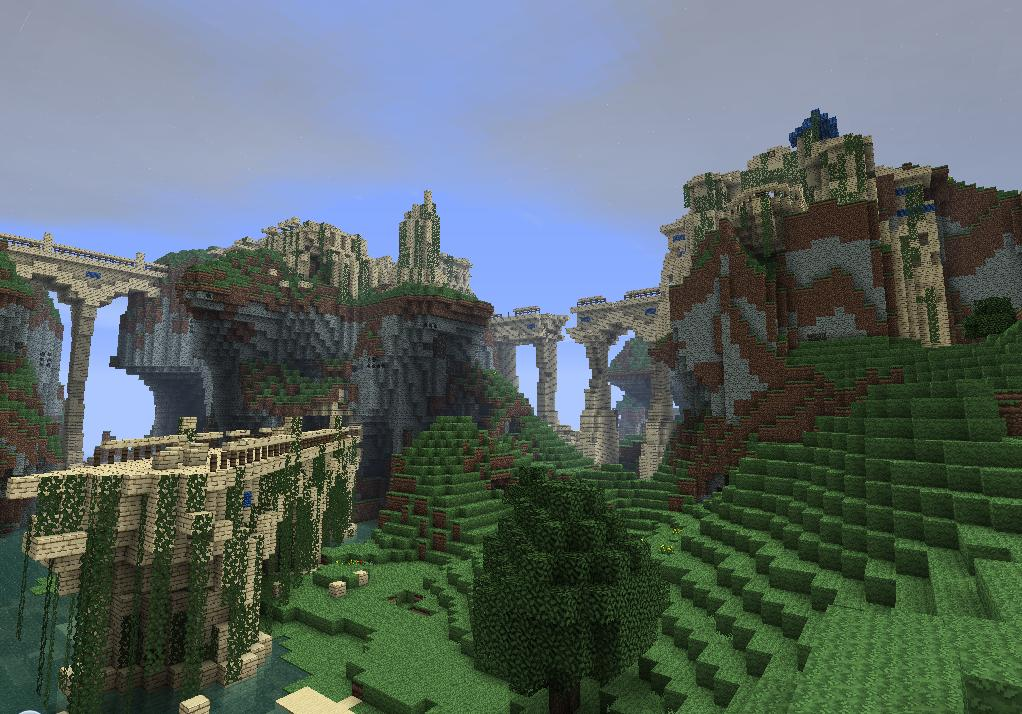 how to create mountains in minecraft mcedit