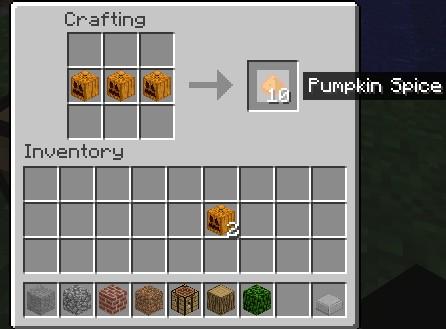 Minecraft Craft Pumpkin Pie