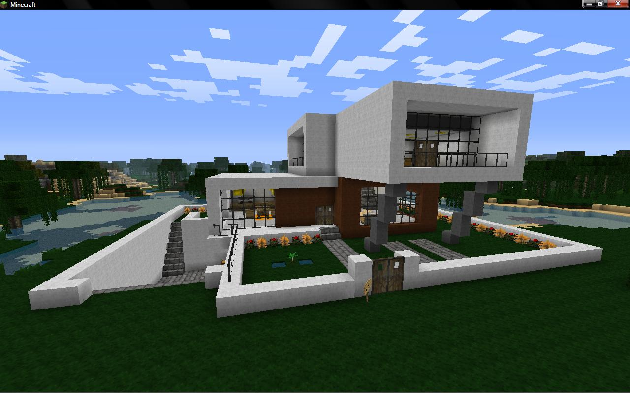Modern house real minecraft project for Project house