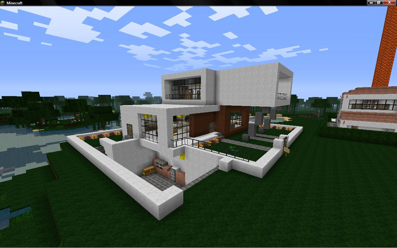 Modern house eal minecraft project real modern houses